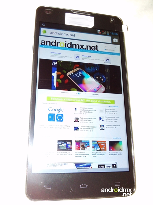 A leaked photo of the LG Optimus G. <br>Image source: Androidmx.net