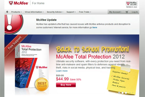 Image credit: McAfee.