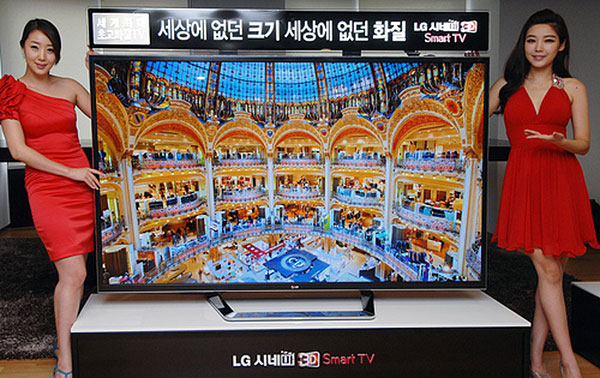 The LG 84LM9600 84-inch 4K 3D TV. (Image source: LG.)