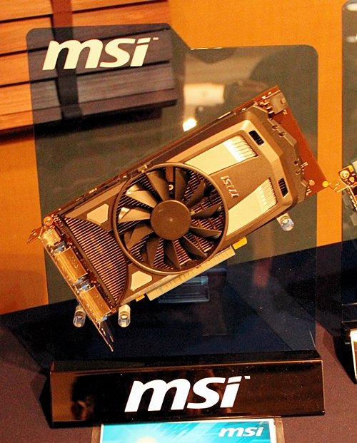 The MSI N650 Power Edition 1GD5 graphics card that features the TransThermal cooling feature for with modular cooling fans options.