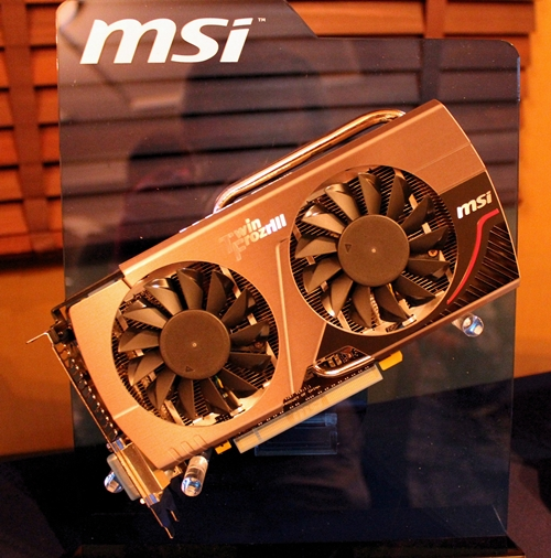 The MSI N660 TF 2GD5/OC card features Twin Frozr III Thermal Design to keep its NVIDIA GeForce GTX 660 chip cool even when the card is overclocked.