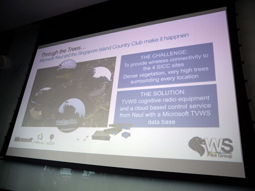 Solutions provided to overcome some of the challenges faced with the TVWS project at the Singapore Island Country Club.