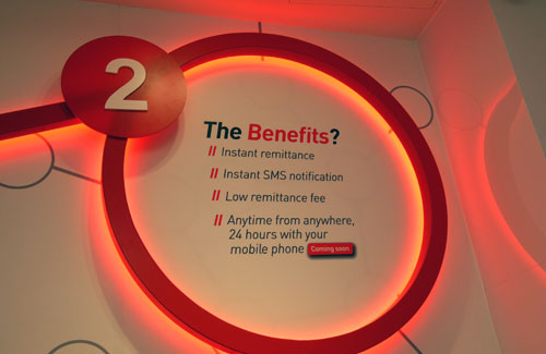Some of the benefits of mRemit, according to SingTel.
