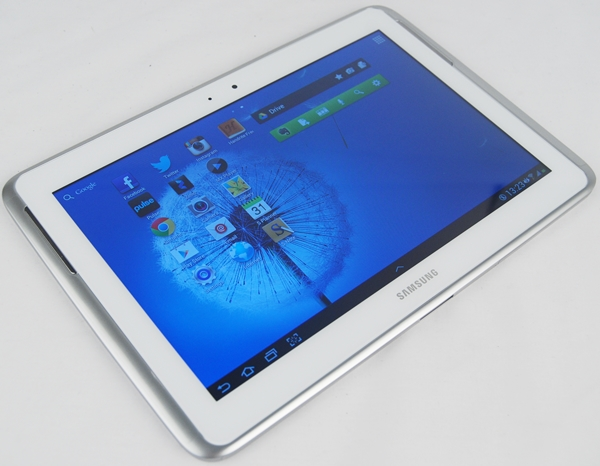 Seen here is the Samsung GALAXY Note 10.1 tablet