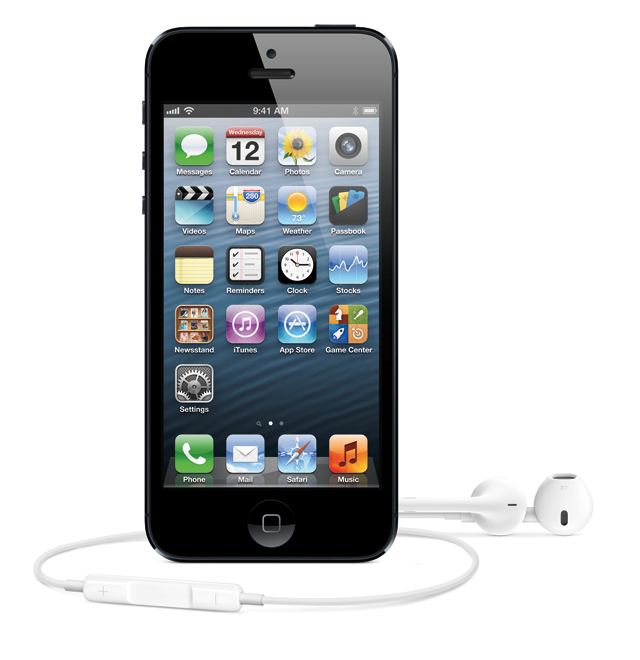 All hail the new iPhone 5. Sold with the equally new Apple EarPods.