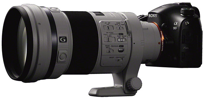 The A99 with the new 300mm F2.8 G lens. As always, this is a built-to-order lens.