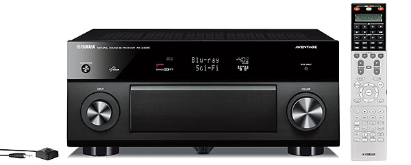 The new flagship in the Aventage series is the RX-A3020, a 9.2-channel AV receiver with 11.2-channel expandability. Other features include noise reduction using the HQV Vida processor, AirPlay support, and multi-zone HDMI output.