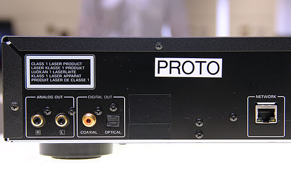 The CD-N500 has one optical and one coaxial digital outputs.