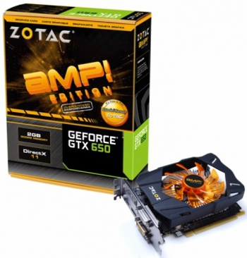 Zotac GeForce GTX 650 AMP! Edition