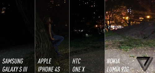 Taken with night mode turned off. (Source: The Verge)