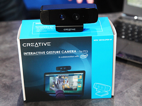 If you want to start developing gesture and facial recognition software, you'll need the Creative Interactive Gesture Camera Developer Kit which will cost you US$149.