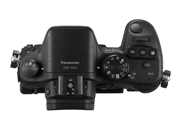 The GH3 adds many more dedicated controls, including the WB, ISO and exposure compensation buttons below the shutter release, as well as two control dials - a first on a Lumix G body.