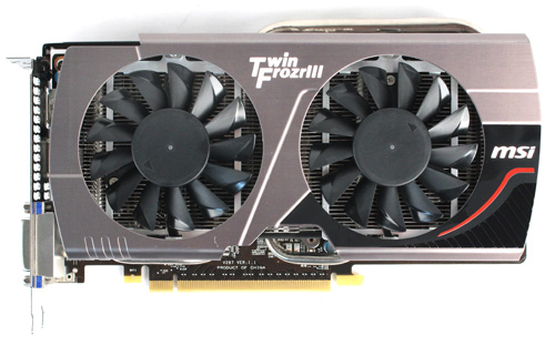 The MSI GTX 660 is the smallest card in our shootout, measuring 235 x 137 x 37mm