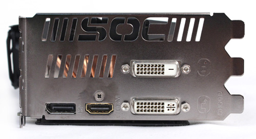 Ports are the only thing stock about the Windforce 5X Super OC, with one DVI-I, one DVI-D, one HDMI and one DisplayPort.