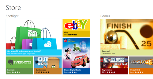 The Windows Store is Microsoft's equivalent of Apple's Mac App Store.