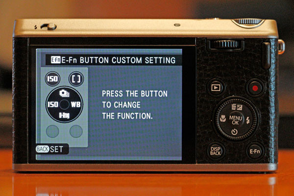 You can customize which button maps to which secondary function with the E-Fn button.