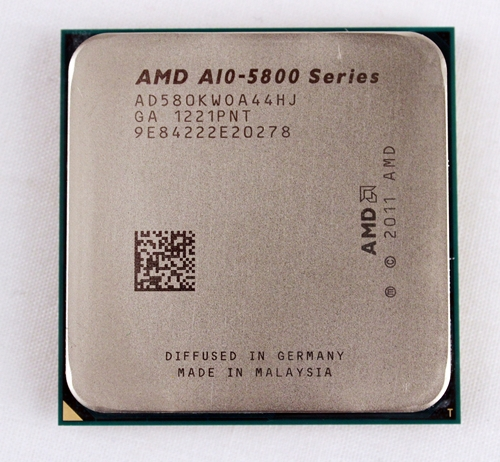 Currently, the AMD A10-5800K Trinity APU is the most powerful SKU from the desktop lineup. With its pair of Piledriver modules, it technically features a 'quad-core' CPU rated at 3.8GHz with a Radeon HD 7660D GPU core.