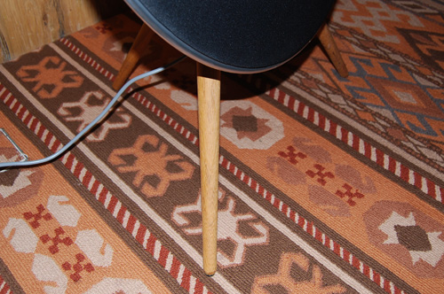 Wooden legs available in a choice of teak, oak and beech help prop the speakers up. Consumers also have the option to wall mount the speakers instead.