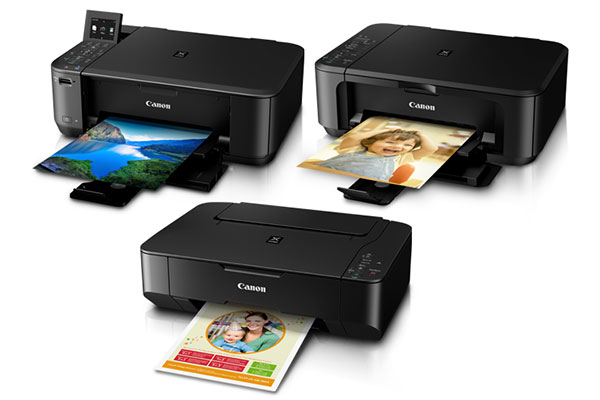 From top: The Canon Pixma MG4270, MG2270, and MP237 AIO photo printers.