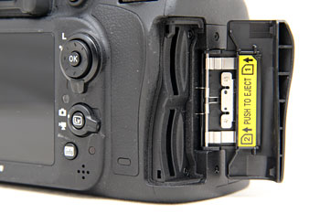 Twin SD card slots let you back-up while you shoot.