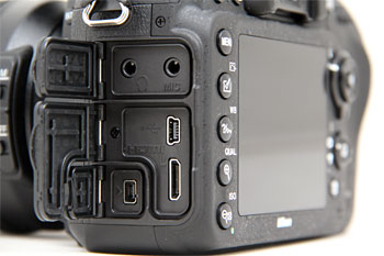 For videographers, the D600 comes with separate headphone and microphone jacks.