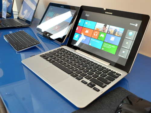 Samsung revealed to us a whole slew of Windows 8 computing devices with touch displays.