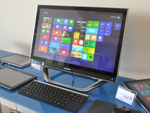 A touch AIO brings out the full capabilities of Windows 8.
