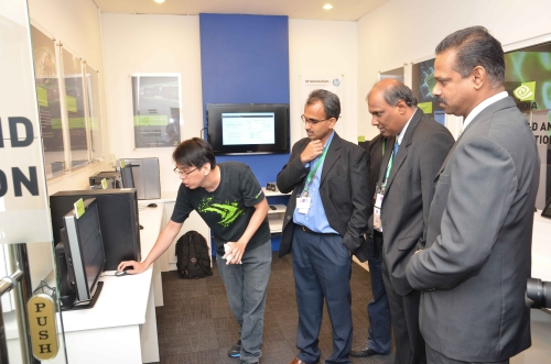 A brief tour of the center was given just after the launch earlier today.