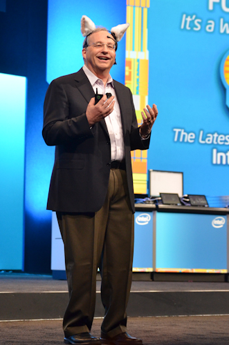 Justin Rattner, Chief Technology Officer, Intel Corporation, loves his job, and he's not afraid to show it!