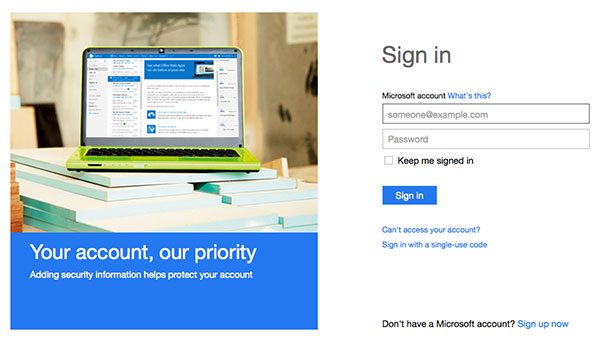If you don't have a Microsoft account, you can sign up for one at signup.live.com. You're also prompted to do so when you first setup Windows 8.