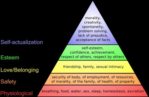 According to Maslow's hierarchy of needs, self-actualization is one of the needs we have to achieve to be happy.