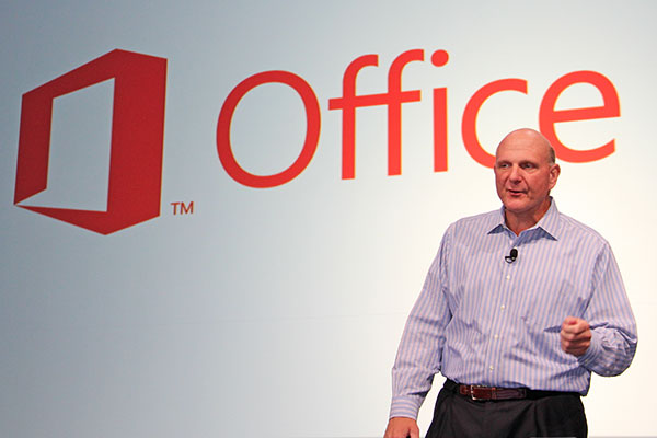 Microsoft CEO Steve Ballmer introduced the new version of Office at a press event in July this year.
