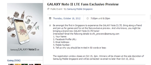 Image source: Samsung Mobile Singapore Facebook Page