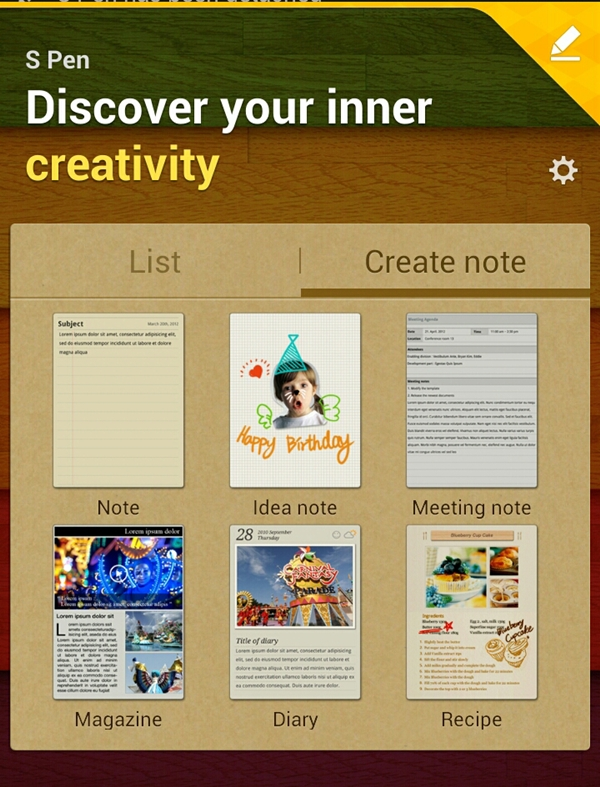 Removing the S Pen from its slot will prompt the Samsung Galaxy Note II to present its contextual home page up front.