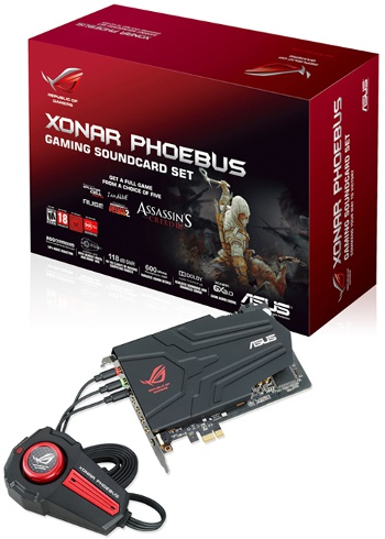 ROG Xonar Phoebus gaming soundcard set (Image source: ASUS)