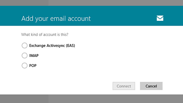 In addition to Exchange ActiveSync, Mail also supports both IMAP and POP accounts.