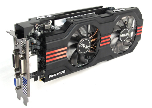 ASUS' custom 650 Ti looks nothing like NVIDIA's reference design, utilizing dual fans and a much, much longer body.