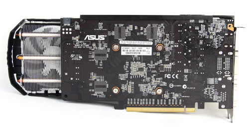 ASUS uses an extended custom PCB with upgraded components on its GTX 650 Ti.