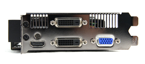 A VGA port has been added to the reference design's HDMI, DVI-D and DVI-I ports.