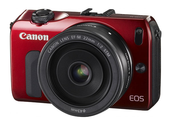 The Canon EOS M comes in black, silver, white, red, but which colors you can choose will depend on the kit you pick.