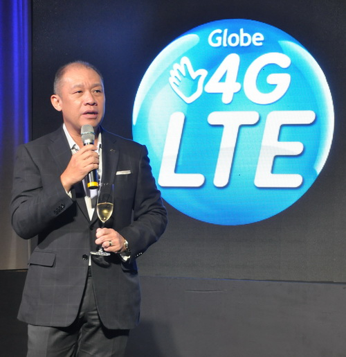 Globe Telecom's President and CEO Ernest Cu at the launch of the company's LTE roaming service at The Peninsula Manila.