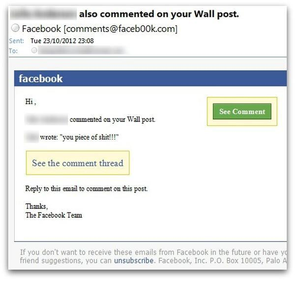 The malicious message on Facebook which fools the unwary user into thinking someone said something offensive to them