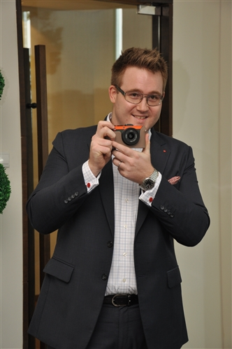 Mathieu Musnier, Area Sales Manager, South East Asia, Leica Camera Asia Pacific introducing the Leica X2 Paul Smith Edition.