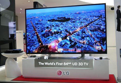 LG unveiled their 84-inch LM9600 model here recently.