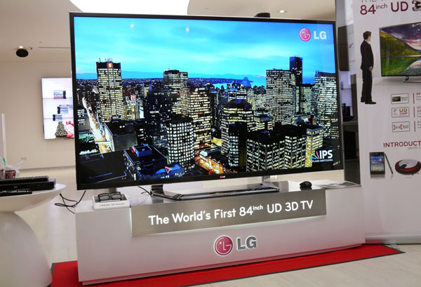 LG's stylish 4K display with its massive 84-inch screen is quite a sight to behold. Unfortunately, it does not share the smaller 55-inch LM9600's direct LED backlighting feature.