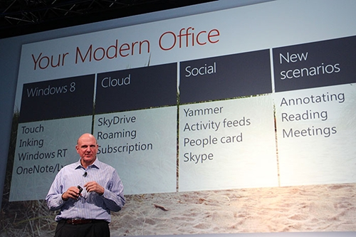 Microsoft CEO Steve Ballmer introduced Office 2013 in July this year.