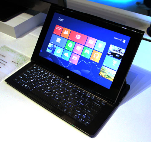 ...to an Ultrabook, just by sliding the screen into place with Sony's unique 'Surf Slider' mechanism.