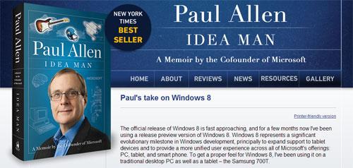 Image credit: Paull Allen, Microsoft