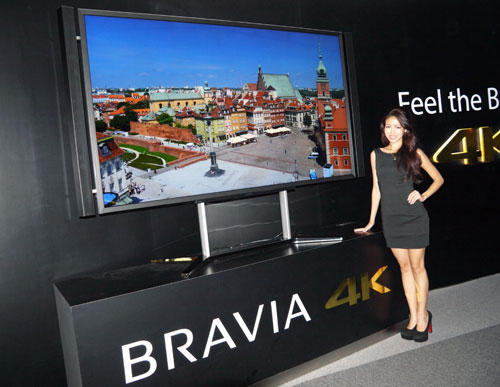 Sony's 84-inch 4K Bravia TV is a laudable piece of art and engineering. Featured here with its stock pedestal stand, the KD-84X9000 has impressed us with both its audio and visual capabilities.