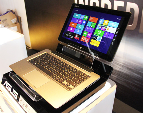 The Transformer book is a hybrid Ultrabook-tablet, with a removable docking keyboard.